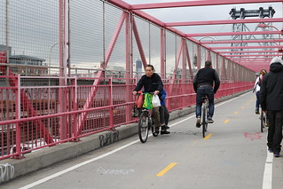 Couple on a bicycle, Williamsburg Bridge, by WarmSleepy on FlickR, http://www.flickr.com/photos/33498942@N04/8143697553/