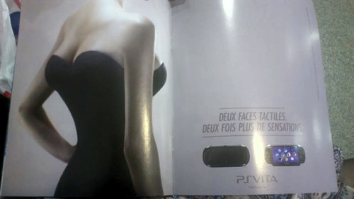 PS Vita French Ad Goes All Out With Four Breasts