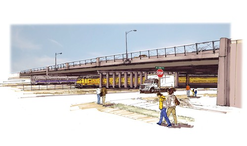 Rendering of Proposed Peoria Street Bridge over East Rail Line
