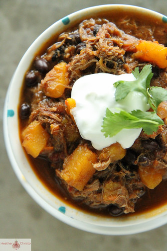 Pulled Pork and Butternut Squash Chili