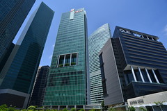 One raffles Quay, One Marina Boulevard (NTUC) and OUE Bayfront