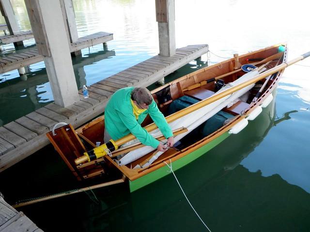 Goat Island skiff homebuilt sailing boat planes easily sailing fast