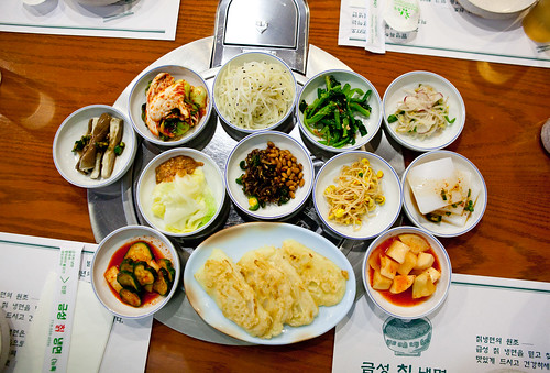 Banchan spread (all in-house made)