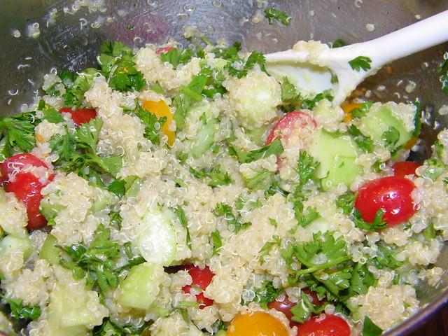 Quinoa Tabbouleh (Tabouli) Salad