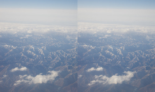 Mount Takase, stereo parallel view