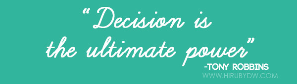 decision is ultimate power