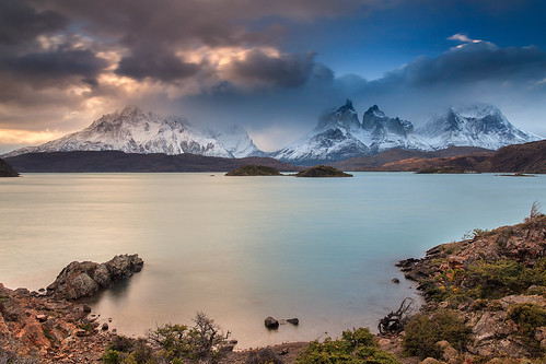 chile park travel sunset patagonia nature night landscape national helminadia toresdelpaine pwpartlycloudy