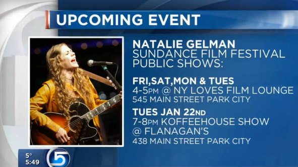Natalie Gelman performing at Sundance Film Festival | Schedule