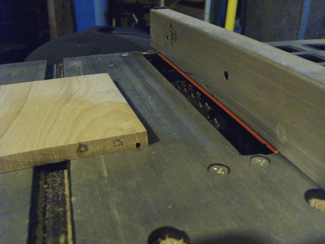 Cutting dadoes for tray bottoms...