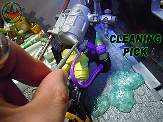 "Nickelodeon ""MUTAGEN OOZE"" TEENAGE MUTANT NINJA TURTLES :: OOZE TOSSIN' RAPH & OOZE SCOOPIN' DONNIE xiii // ..cleaning pick (( 2013 ))"
