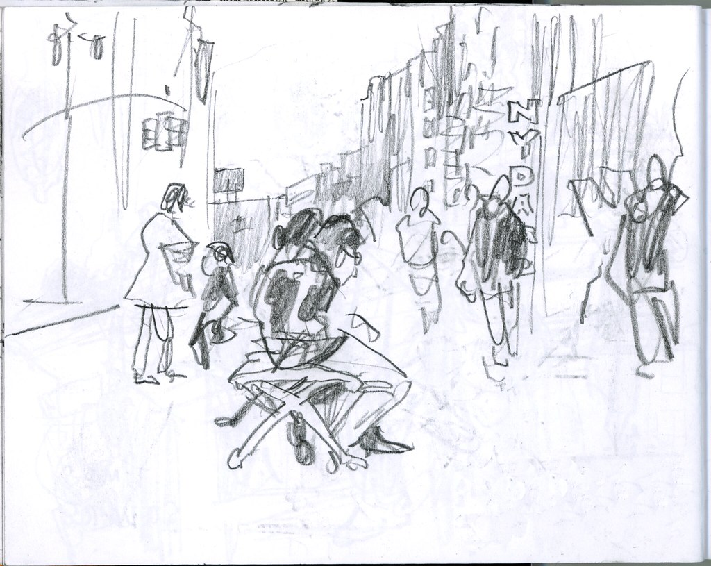 Times Square. 38th World Wide Sketch Crawl