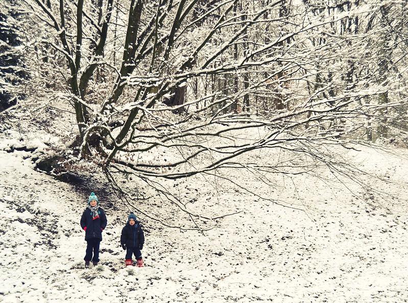 Lisa+Milo+arbol+nieve
