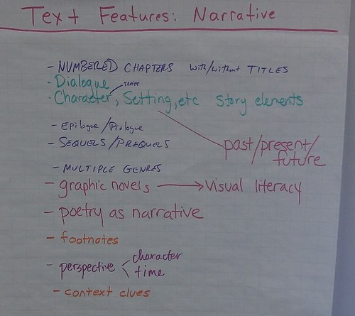 text features narrative