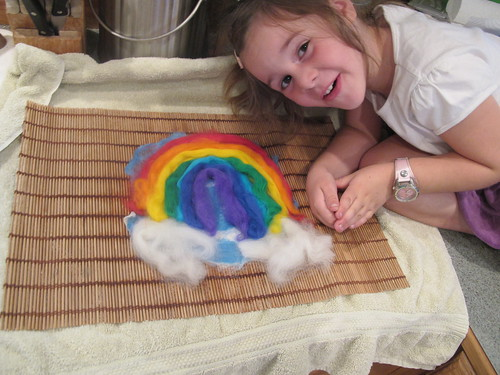 Summer Wet Felting: Rainbow#9