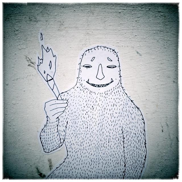 der 6te lachs Street Art