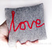 little love cushion in grey