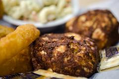 steak(0.0), pork chop(0.0), salisbury steak(0.0), produce(0.0), meat chop(0.0), meatball(0.0), roasting(1.0), fried food(1.0), cutlet(1.0), frikadeller(1.0), food(1.0), dish(1.0), cuisine(1.0),