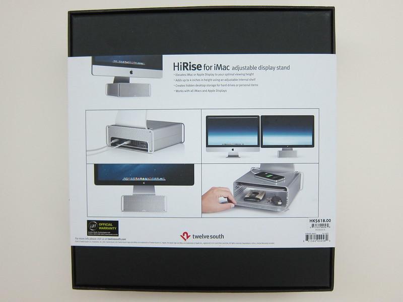 Twelve South HiRise for iMac - Box Back