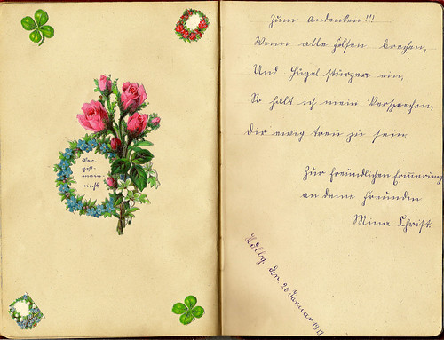 Klaras Poesiealbum 1919 Sütterlin Sütterlinschrift