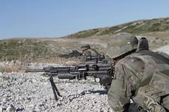 """Línea de tiro en San Gregorio, durante el ejercicio """"Frontera Avanzada"""""""