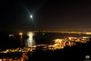 La lune illumine la baie d'Alger