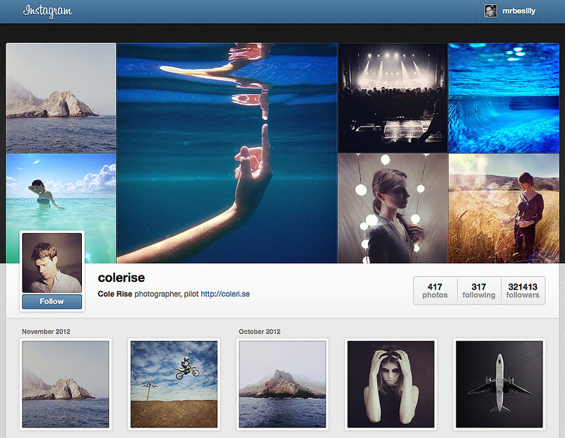 Instagram Announces Web Profiles