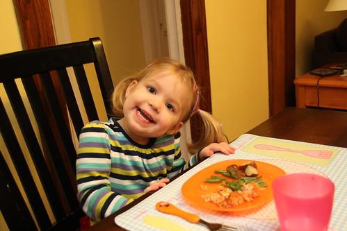 Annie at dinner