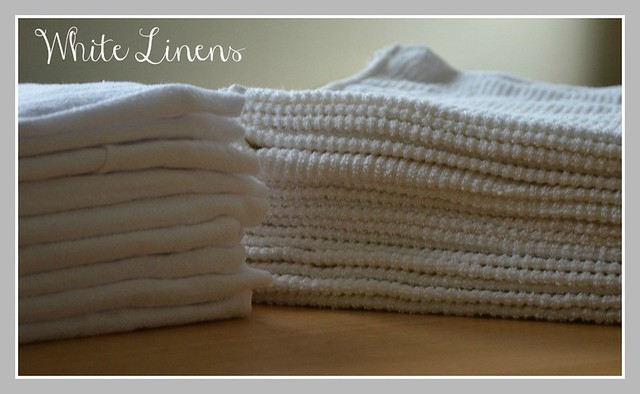 white linens cover photo