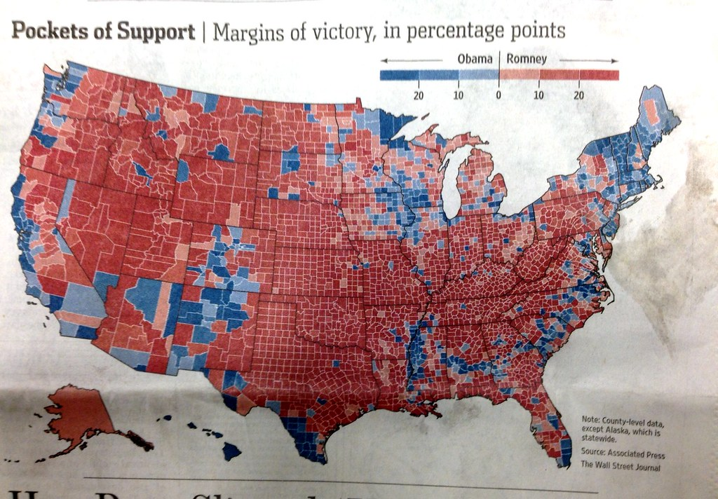 Map: 2012 U.S. Presidential Election Results by County | Flickr