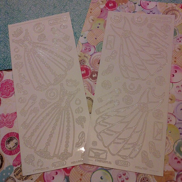Wedding dress peel off stickers