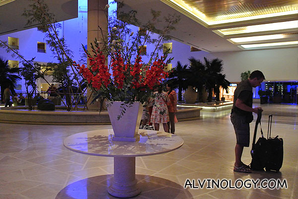 The lobby of Leonado Privilege Hotel Dead Sea
