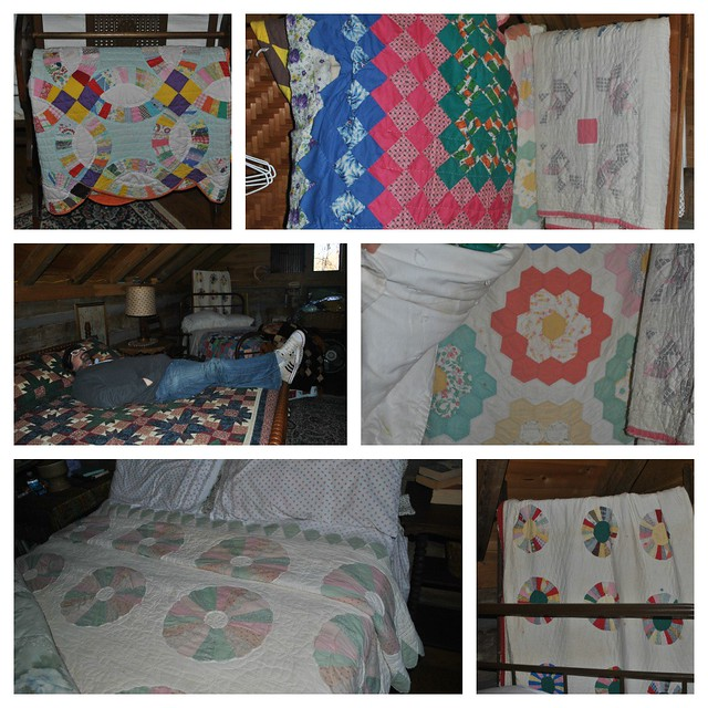 Vintage Quilts - Nelsonville Family Cabin