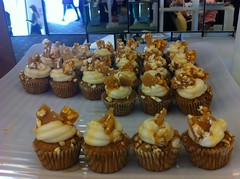 Snap Crackle Popcorn mini cupcakes live from Cupcake Love-In by Rachel from Cupcakes Take the Cake