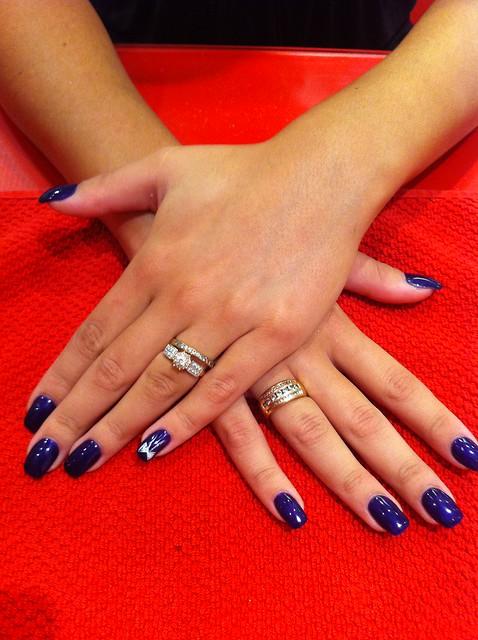 8 ongle gel violet decor papillon nail manucure quickepil proepil flickr photo