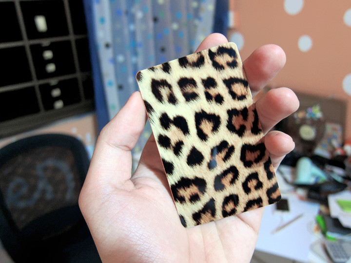 leopard prints ez-link sticker