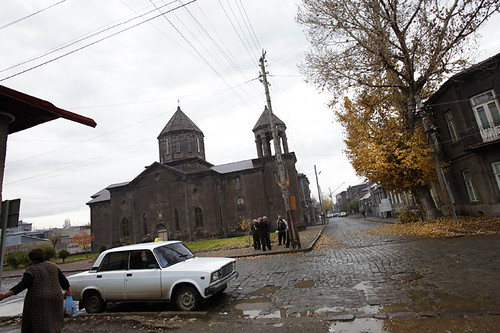 Quartiere antico di Gyumri Armenia