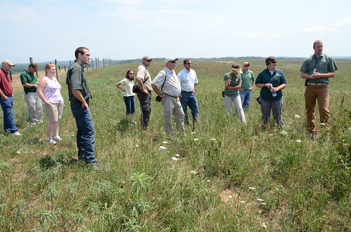 NRCS employees and partners recently visited the 60-acre project site to evaluate prairie conditions. The prairie is thriving, despite the current drought.