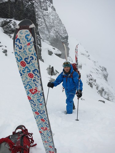 Nov 11 2012.... A little weathered. Happy to be a few steps away from the final destination.... photo Andy Traslin... skier Mike Traslin.