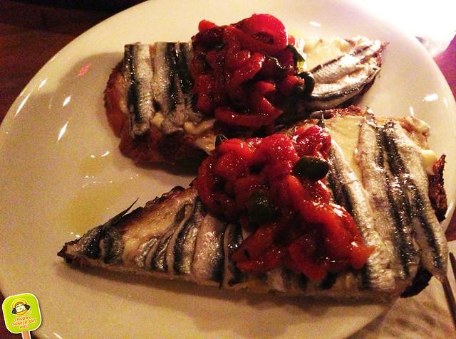 Hillside - white anchovy crostini