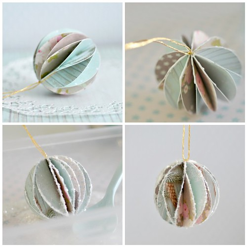 Pretty paper bauble -steps 9-12