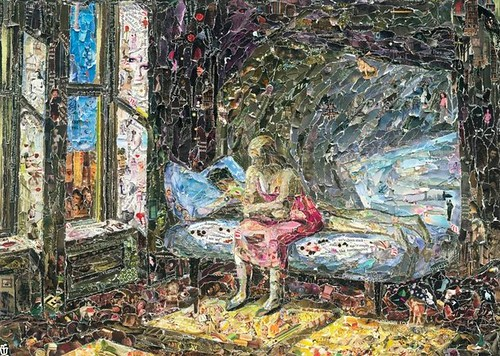 Vik Muniz, Summer in the City, after Edward Hopper, 2011