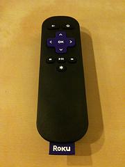 The Roku remote
