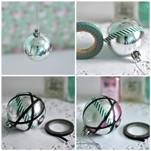 My DIY vintage inspired baubles steps 1-4