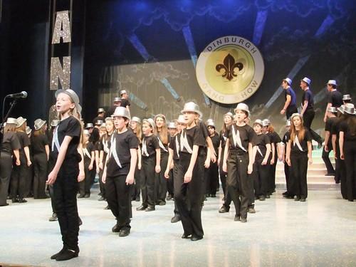 """Tonight"": A scene from Edinburgh Gang Show 2012 dress rehearsal. Photo Michael Walker"