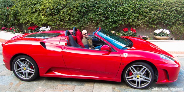 Taking a Ferrari F430 F1 Spider for a test drive in the French Riviera