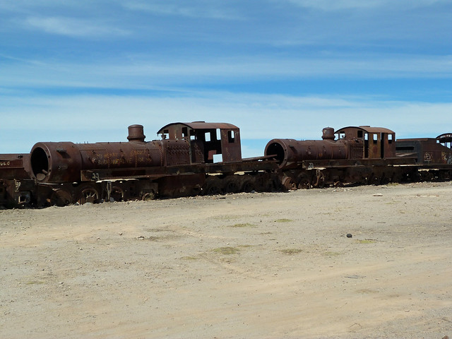 Cementerio de trenes de Uyuni (Bolivia)