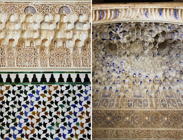 Alhambra niche carvings