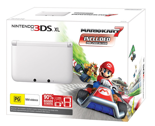 Nintendo Australia Announces Limited Edition White Nintendo 3DS XL Pre-loaded with Mario Titles