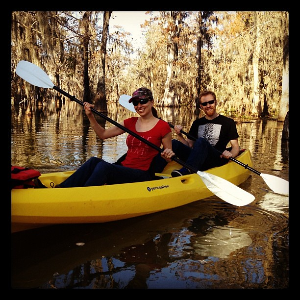 Swamp tour in a kayak! Spotted huge alligator on Lake Martin #louisiana