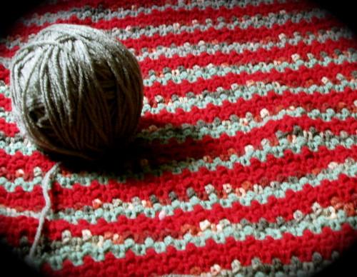Moss Stitch Crochet Lapghan